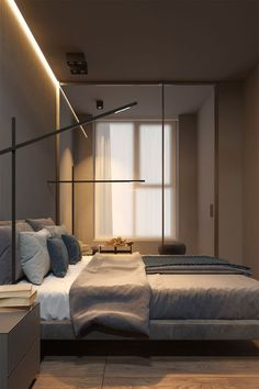 modern bed room apartment modern Bedroom room apartment bachelor pads dramatic and stylish apartment Bedroom Bed Design, Home Bedroom, Modern Bedroom, Bedroom Ideas, Black Interior Design, Interior Design Magazine, Hotel Interiors, Decoration Design, Dream Rooms