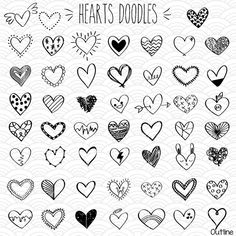 ADVERTISEMENT 10 Videos About Valentines Day Drawings that Will Make You Laugh Whether you forgot to get ready or have just exhaust time, sometimes it's. Simple Doodles, Cute Doodles, Hand Doodles, Outline Drawings, Doodle Drawings, Clipart, Herz Tattoo Klein, Coeur Tattoo, Doodle Png