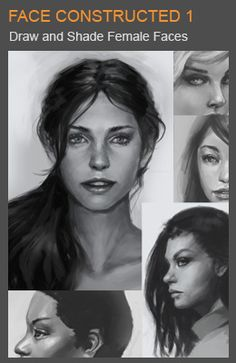 learn to draw and shade female portraits