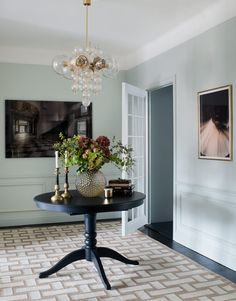 Time for some Ikea love! The Ikea Liatorp is a sturdy table whose traditional pedestal style is perfect for mixing a variety of ch. Black Wainscoting, Wainscoting Kitchen, Painted Wainscoting, Dining Room Wainscoting, Wainscoting Panels, Wainscoting Nursery, Wainscoting Ideas, Liatorp, Feng Shui