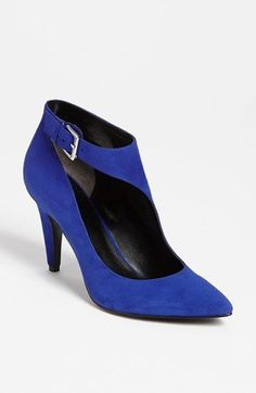 Nine West 'Peppy' Bootie available at #Nordstrom. Cobalt contrasts so nicely with the warm tones of fall.