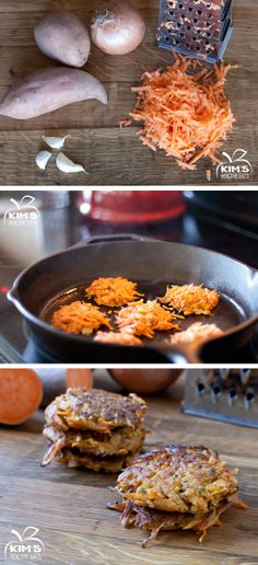 Sweet Potato Cakes | Kim's Healthy Eats via Recipe By Photo