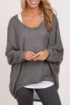 Go with the flow with this casual long sleeve loose t-shirt. Available in 9 colors. Details: - Tops - Long sleeve - Loose - O-neck - Full - Fabric: Polyester Free Shipping! MINCHIC suggest checkout wi