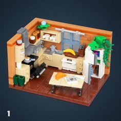 01 - Kitchen Lego Activities, Lego Games, Legos, Lego Kitchen, Lego Creative, Lego Furniture, Lego Pictures, Lego Room, Lego Storage