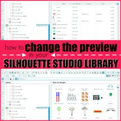How to change the preview in your Silhouette Studio library