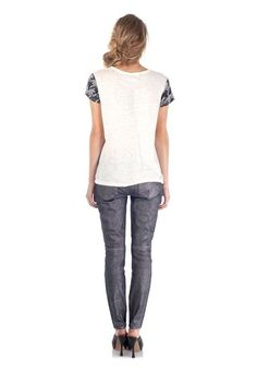 Houndstooth Tee (back view) by Marc by Marc Jacobs.