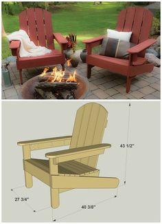 DIY Adirondack Chairs :: FREE PLANS at buildsomething.com