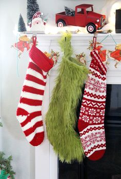 How to make a Grinch Christmas Stocking     Grinch Stocking DIY