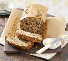 Bara brith Replace butter with vegan spread and egg with a flax 'egg'.