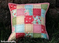 Patchwork Pillow Tutorial by Corey Yoder from Coriander Quilts