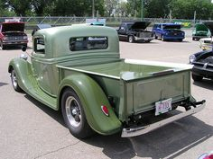 1935 Ford Truck. So clean and love the color