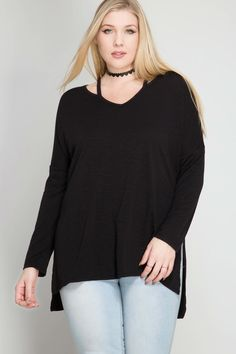 Long sleeve top with cutout neck straps