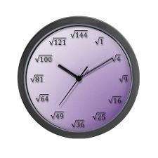 Square Root Clock Wall Clock