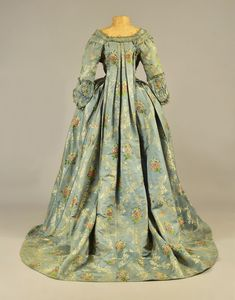 Robe à la française ca. 1770′s From Whitaker Auctions