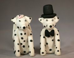 Dalmatian Dog Wedding Cake Topper!!!!!!