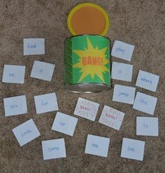 Come Together Kids: BANG! ( A fun flashcard game ) can use with any type of skill that requires quick recognition. ( sight words , letters, math facts etc) Sight Word Games, Sight Words, Kindergarten Literacy, Literacy Activities, Literacy Centers, Learning Activities, Kids Learning, Classroom Games, Classroom Decor