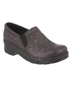 Another great find on #zulily! Plum Tooled Naples Leather Clog by Klogs #zulilyfinds
