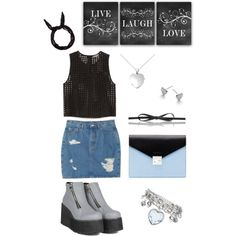 live, love, laugh by ramona-damian on Polyvore featuring polyvore, fashion, style, Vince Camuto, Monki, Michael Kors, Blue Nile and L.K.Bennett