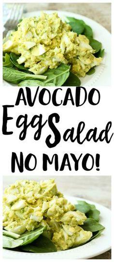Avocado Egg Salad Recipe | no mayo | lunch recipe | gluten-free recipe | Paleo recipe | Whole30 recipe | low carb recipe