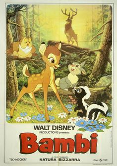 Quentin Tarantino presents: Bambi. Samuel l Jacksons face on disney covers, I laughed way to hard at this Posters Disney Vintage, Retro Disney, Disney Movie Posters, Classic Movie Posters, Poster Vintage, Disney Characters, Quentin Tarantino, Tarantino Films, Classic Disney Movies