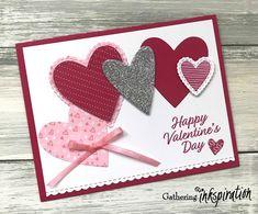 Gathering Inkspiration: 2019 Valentine Cards To Make, Valentine Greeting Cards, Happy Valentines Day, Valentine Ideas, Gift Card Mall, Valentine's Cards For Kids, Love Cards, Halloween Cards, Scrapbook Cards