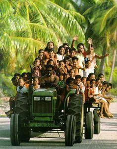 Indonesia overloaded tractor