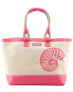 vineyard vines 'Shell' Canvas Beach Tote