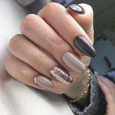 Trendy Manicure Ideas In Fall Nail Colors;Purple Nails; Fall Nai… Trendy Manicure Ideas In Fall Nail Colors;Purple Nails; Gorgeous Nails, Love Nails, How To Do Nails, Fun Nails, Best Nails, Amazing Nails, Glam Nails, Party Nail Design, Gel Nagel Design