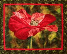 One Poppy quilt pattern, by Lenore Crawford