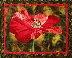 poppy art quilt