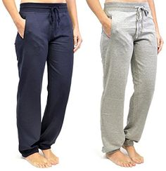 2Pk Ladies Tom Franks Sport Gym Jogging Pants Fashion LRG-Navy-Grey  Price…