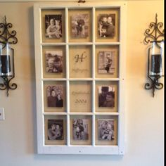 Great idea for framing pictures
