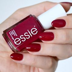 The Essie Fall 2017 collection has landed and it's inspired by the nineties. Are you more bubblegum pink, grungey metallic, or vampy berry? Essie Nail Polish, Nail Polish Colors, Dark Red Nails, Short Red Nails, Angel Nails, Red Manicure, Nails Only, Nail Art Diy, Art Nails