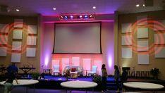 Hanged Panels from Christian Embassy International Church in Chesapeake, VA | Church Stage Design Ideas