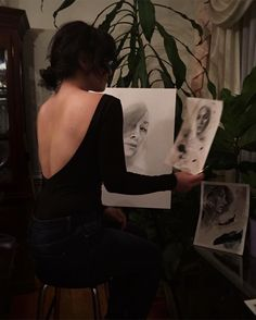 Staring contests.   Art, art studio, drawing