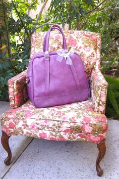 Purple Carry On Vintage American Tourister by TheLionsDenStudio