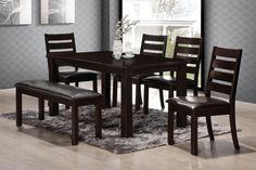 This substantial Cabot Cove dining table adds durability and drama to your home décor. This generously sized, 60-inch table is handy for entertaining, and the heavy, sturdy legs and tabletop bring a rustic, inviting feel to this table's casual contemporary look.