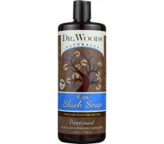 Dr. Woods Naturals Black Soap - Shea Vision - Peppermint - 32 Oz  Dr. Woods Peppermint Black Soap combines Peppermint Essential Oil's invigorating fragrance and versatile benefits  easing sore muscles while promoting circulation with the therapeutic effects of our Raw Black Soap. Our unique formula is a gentle exfoliant and a powerful, deep cleanser that rejuvenates the skin without any need for harsh detergents or toxic additives. Shea butter and vitamin E are nourishing anti- oxidants to…