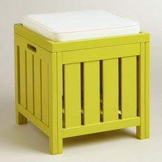 One of my favorite discoveries at WorldMarket.com: Apple Green Storage Stool