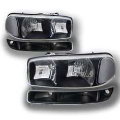 GMC Yukon 2000-2006 Black Clear Headlights and Bumper Lights | A128OXB9213 - TopGearAutosport