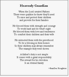 fathers day poems lds