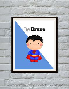 Modern design to the rescue! These are perfect Superhero prints to impress your little man.  Why not browse through our other listings? We