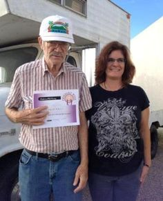 Arnold's truck broke down in Yuma years ago, but he couldn't afford to have it towed back to his home in Tucson.  Our AZ chapter just granted his wish this week!