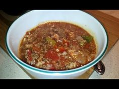 Stuffed Pepper Soup with Cauliflower Rice (Dr Poon/Paleo/Primal/Low Carb) Low Carb Stuffed Peppers, Stuffed Pepper Soup, Cooking For Two, Family Meals, Family Recipes, Cauliflower Rice, Vegetarian Recipes, Paleo, Diet