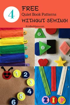 Sewing Projects For Kids Get access to 4 FREE quiet book page patterns that require no sewing! The patterns include activities to learn colors, shapes and numbers as well as how to zip a zipper. Diy Busy Books, Diy Quiet Books, Baby Quiet Book, Felt Quiet Books, Diy Books For Babies, Diy Learning Books, Quiet Book Patterns, Sewing Patterns For Kids, Sewing Projects For Beginners