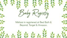 It's just a photo of Adaptable Free Printable Baby Registry Cards