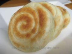 Caracolas de cebolleta, pan de cebolleta chino