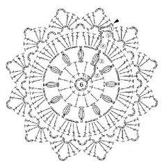 crochet coaster chart by Banphrionsa Crochet Doily Diagram, Crochet Mandala Pattern, Crochet Potholders, Crochet Doily Patterns, Crochet Chart, Crochet Squares, Crochet Doilies, Crochet Flowers, Crochet Coaster
