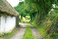 Rural Road by Charlie Brock for Texas Eagle Gallery #Ireland #Irish #art #rural
