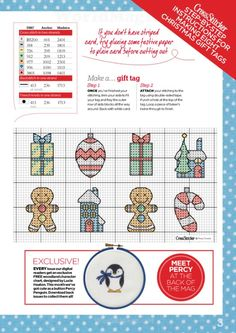 Gallery.ru / Фото #3 - Cross Stitcher №273 2013 - samashveya Xmas Cross Stitch, Cross Stitch Christmas Ornaments, Cross Stitch Pillow, Cross Stitch Cards, Christmas Embroidery, Christmas Cross, Cross Stitching, Cross Stitch Embroidery, Cross Stitch Designs